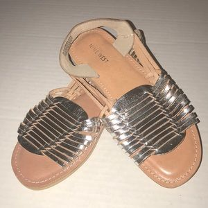 New Nine West leather huarache style sandals